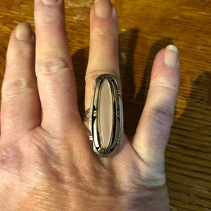 Jewelry - Vintage Elongated 925 Pink MOP Ring Sz6